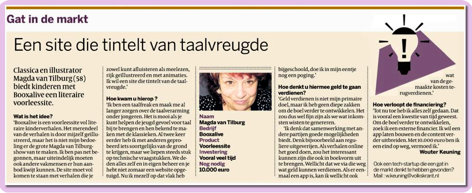Volkskrant 17 januari 2013