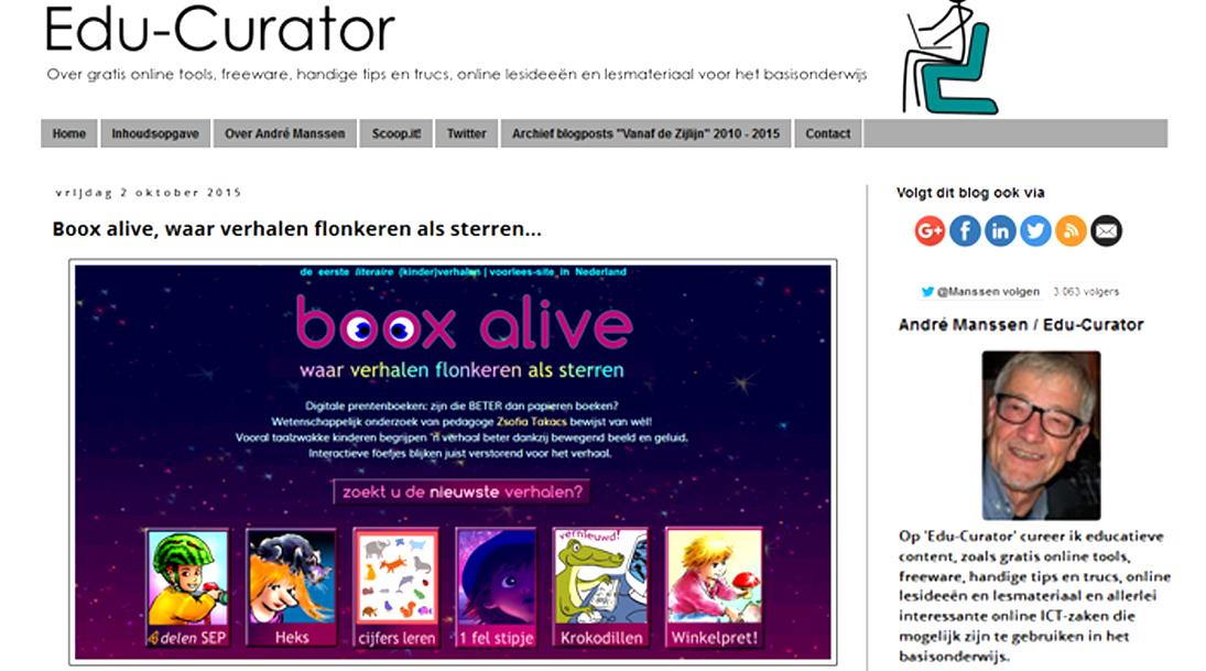 edu-curator, André Manssen, gratis online kinderverhalen
