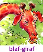 blaffende giraffen, kindergedicht, Marianne Busser, Ron Schröder, voorleesgedicht met animatie
