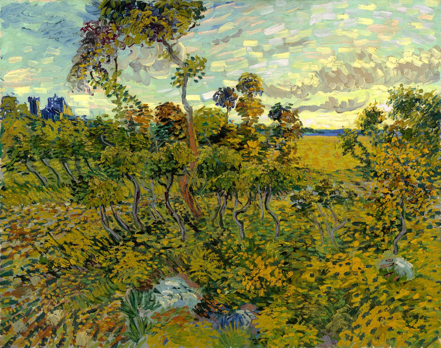 Vincent-van-Gogh.-Zonsondergang-bij-MontmajourSmall.