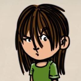 Izzy, Géza Dirks, illustratie experiment, knorrig meisje, grumpy girl