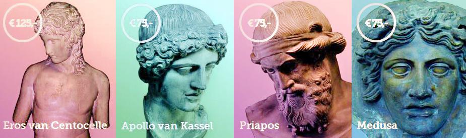 allard pierson museum, haal ons van zolder, adopteer gipsen kopieën van klassieke beelden, eros van centocelle, apollo van kassel, priapos, medusa