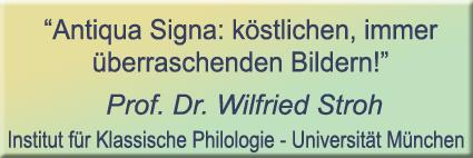 antiqua signa, serie klassieke strips, prof. dr. Wilfried Stroh, institut für klassische philologie, universität müchen