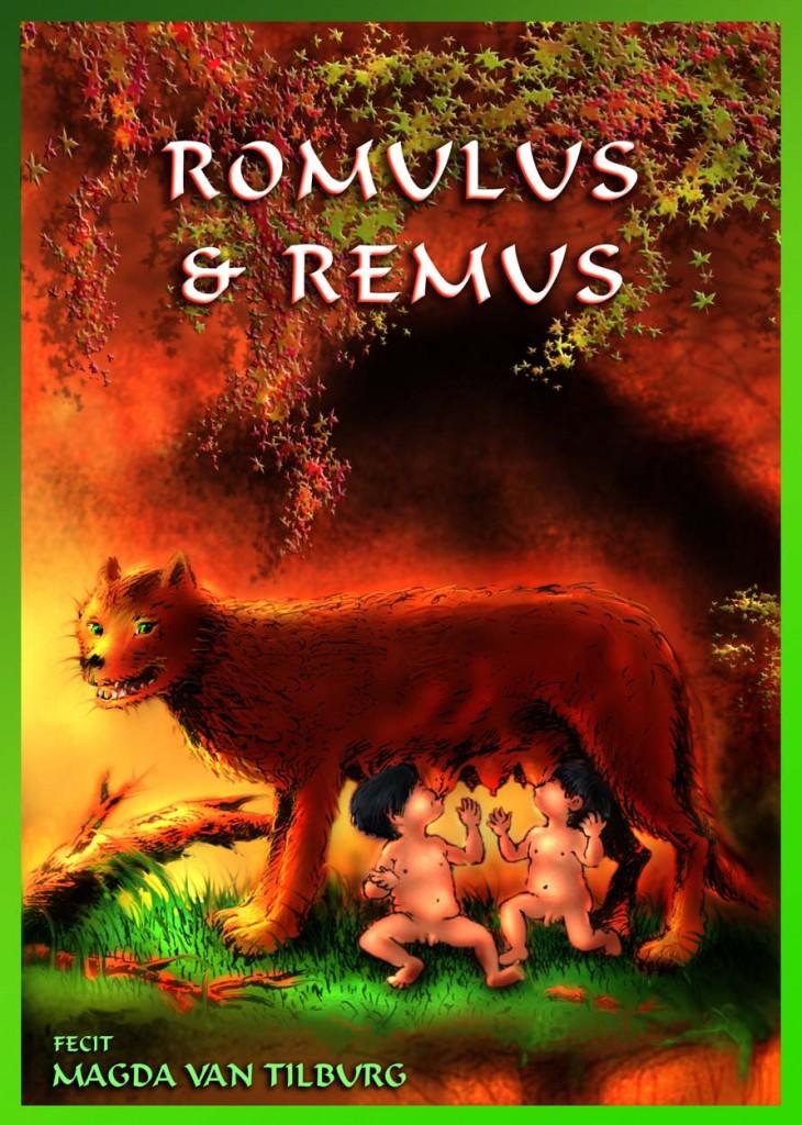 Romulus en Remus, ontstaan mythe van Rome, Titus Livius, latijnse stripboeken, latijnse comic, klassieke strip in latijn