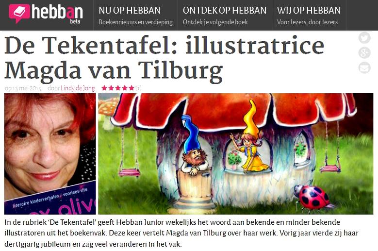 Hebban Junior, De Tekentafel, interview Magda van Tilburg / booxalive, literaire site