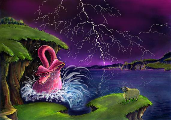 Het geheim van Nessie / digitaal prentenboek, voorleesverhalen gratis online, monster van Loch Ness