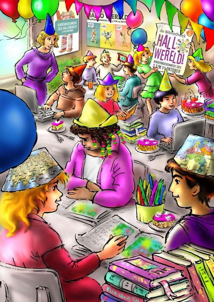 nationale voorleesdagen, kleuterklas, kinderboekenweek, samenwerken, online verhaaltjes voorlezen, groep 1 - 2 - 3 - 4