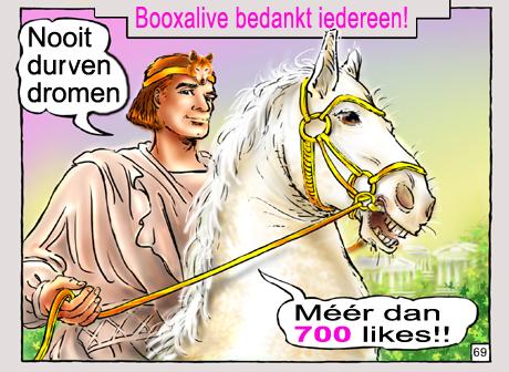 booxalive 700 likes op facebook, voorleesverhalen, klassieke strips