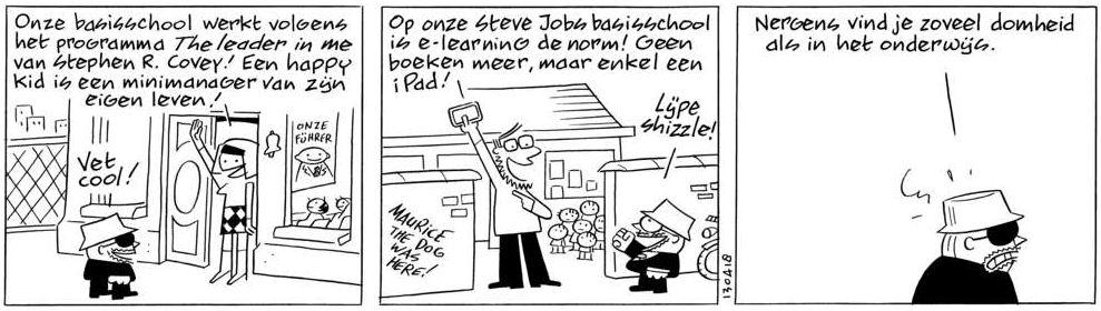 sigmund strip, peter de wit, volkskrant, steve jobbs scholen, iPad scholen