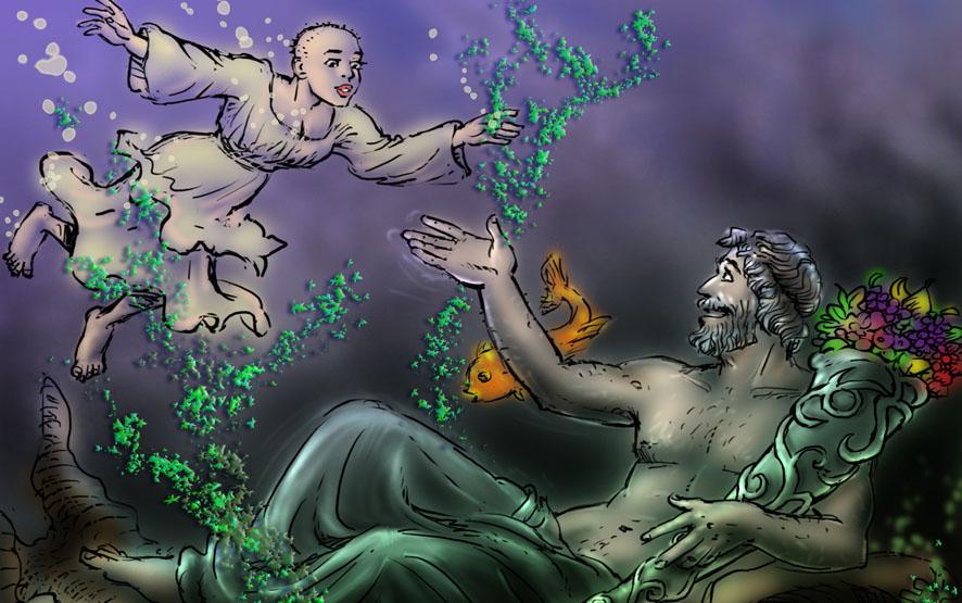 romulus et remus, stichting Rome, legend foundation Rome, Rea Silvia, river deity Tiberinus