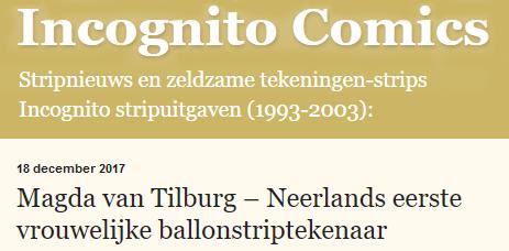 neerlands eerste vrouwelijke ballonstriptekenaar, incognito comics, Hans van Klinken, Magda van Tilburg, Classica Signa, Antiqua Signa, klassieke strips in Latijn en Oudgrieks