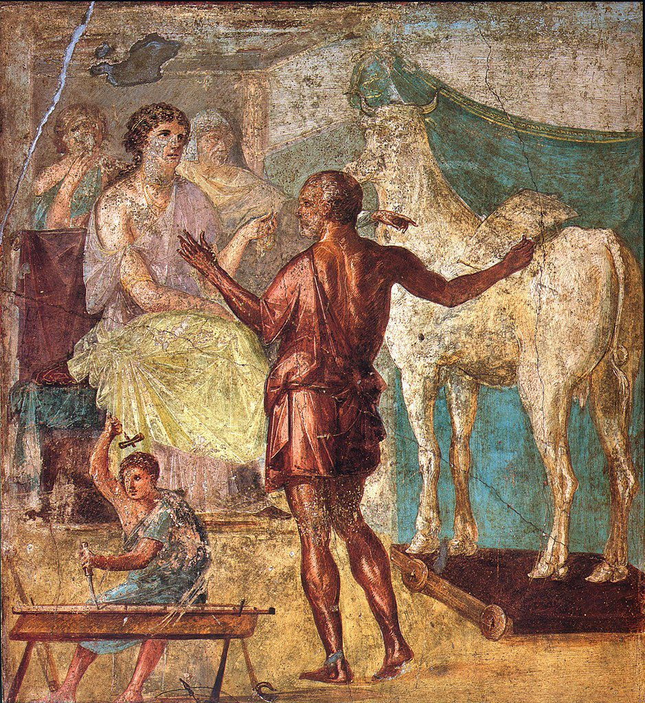 queen Pasifaë, Daedalus, Icarus, houten koe, Kreta, koning Minos, Griekse mythe