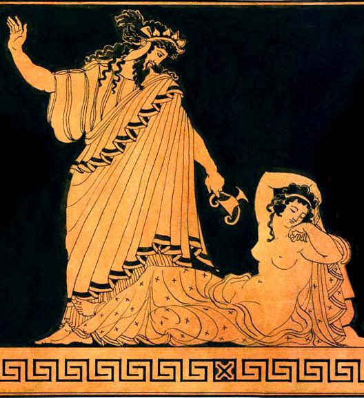 Dionysus en Ariadne, Kretenzische prinses Ariadne, verraden door Theseus, koning Minos, Griekse mythen