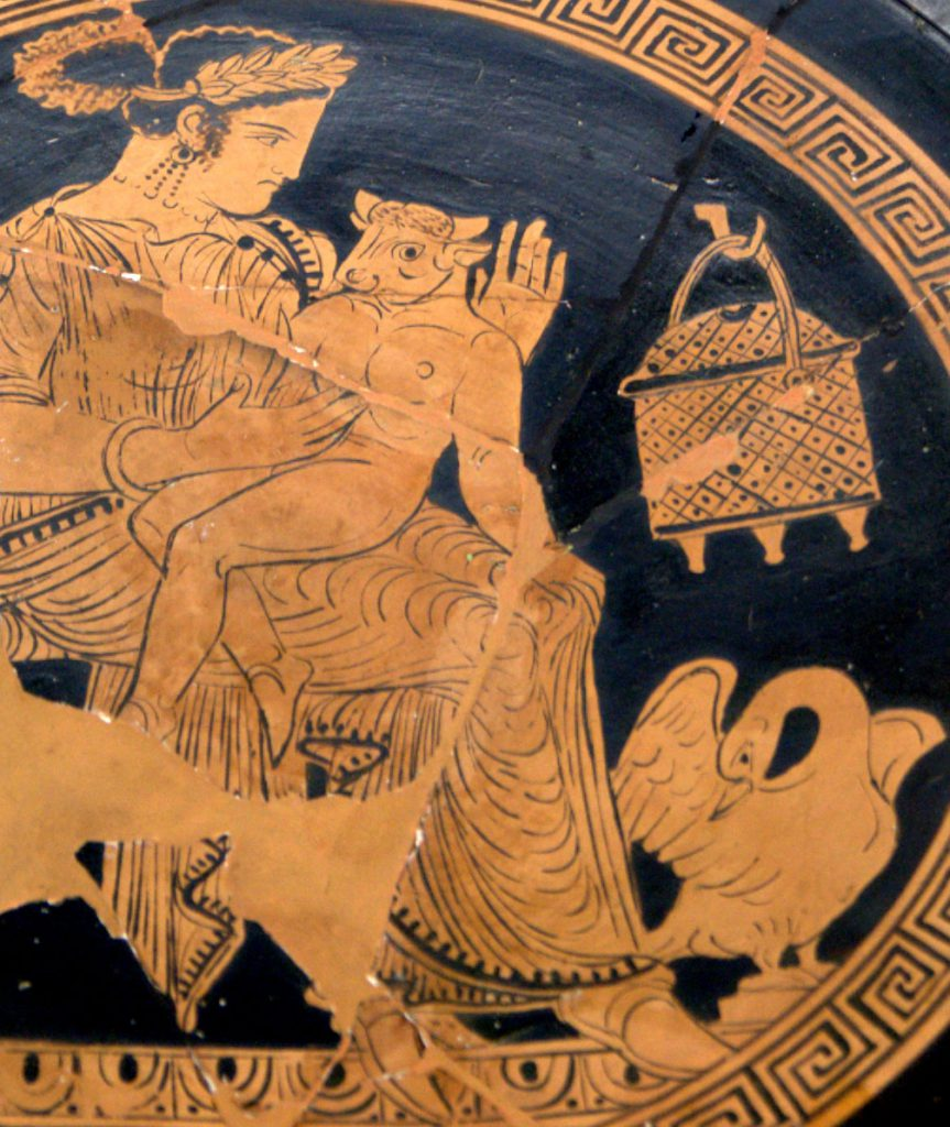 koningin Pasifaë, baby Minotaurus, Kreta, Griekse mythen, Daeadalus en Icarus, koning Minos