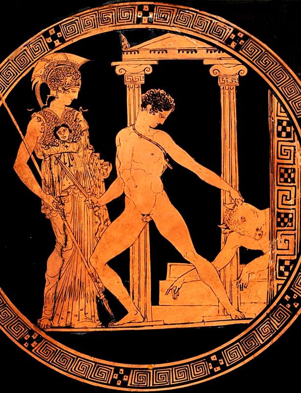 Theseus, Minotaurus, Atheense koning Egeus, koning Minos, Kreta, godin Athena
