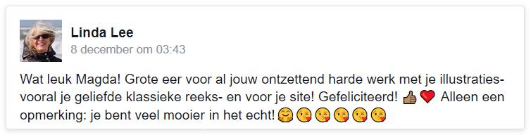 linda lee, facebook complimenten, magda van tilburg klassieke strips, margreet de heer, stripmaker des vaderlands, docentenblad Van TwaalfTotAchttien