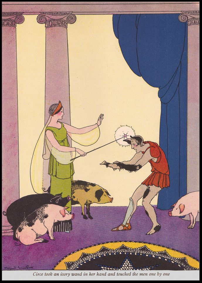 Kirke the witch, Circe, Homeros, Odyssey, de Odyssee, Odysseus, Ulysses, graphic novel, original ancient Greek texts