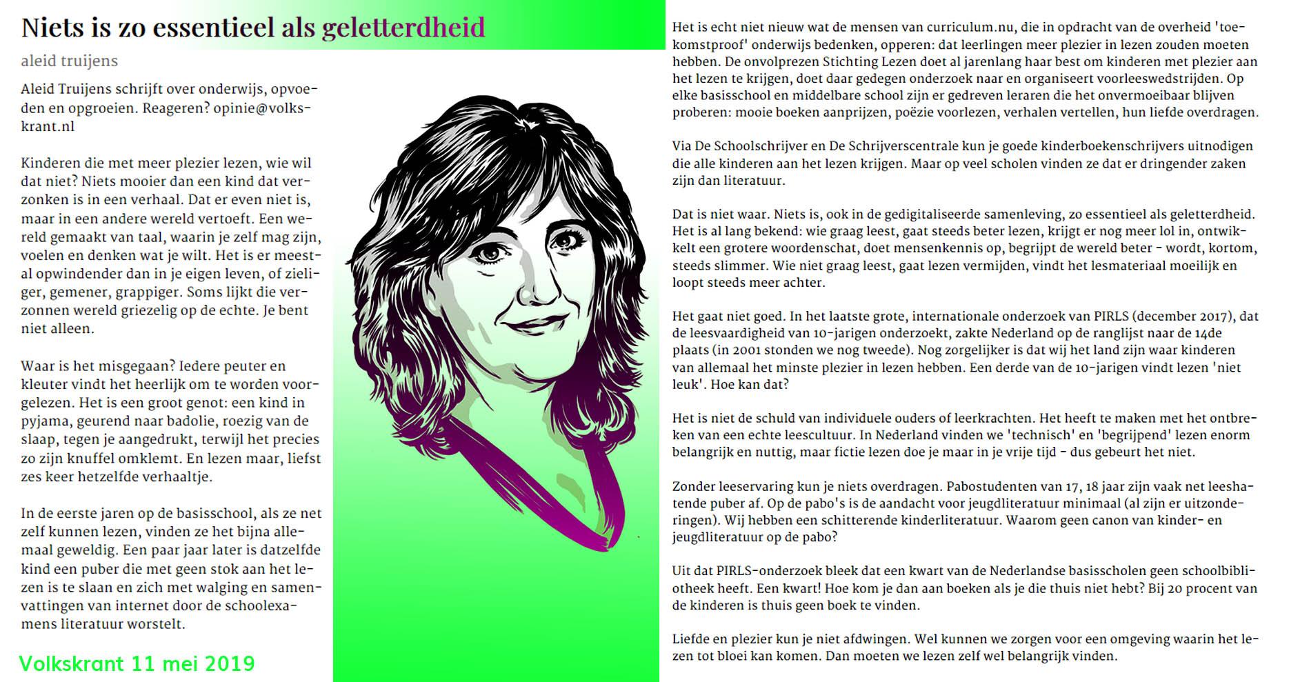 leesvevordering, Aleid Truijens, Volkskrant
