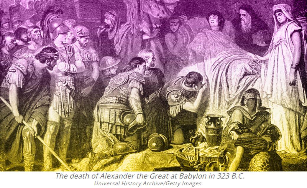 Alexander de Grote, oorzaak van zijn dood, Alexander the Great, cause of death