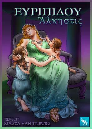 euripides, alkestis, tragedie, Admetus, Herakles, rouw, klassieke strip, graphic novel, antiqua signa
