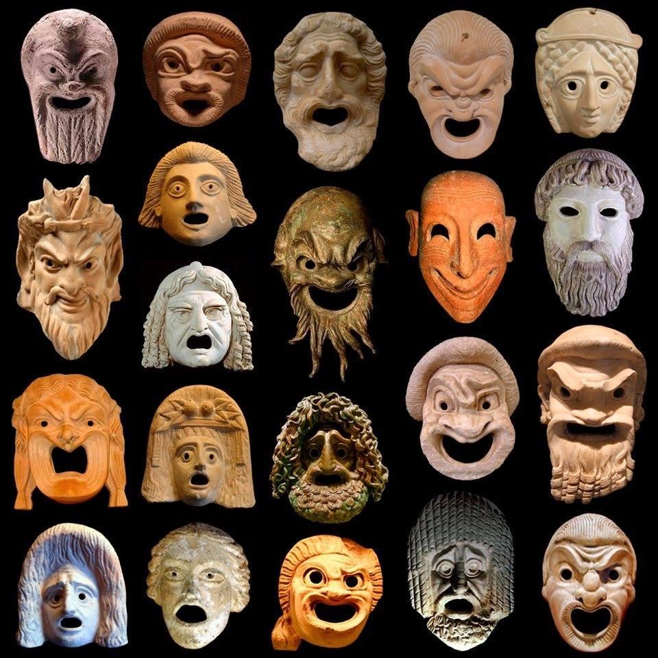 griekse en romeinse toneel maskers