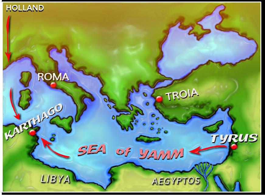 klassiek Middellandse Zee gebied, Tyrus, Karthago, Sea of Yamm, Dido, Elissa, young adult novelle
