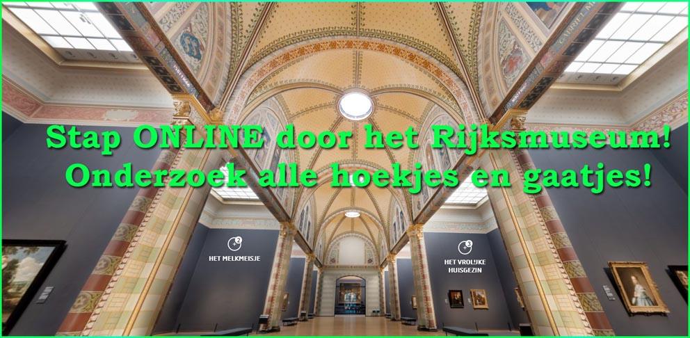 Rijksmuseum, Amsterdam, online museum bezoeken