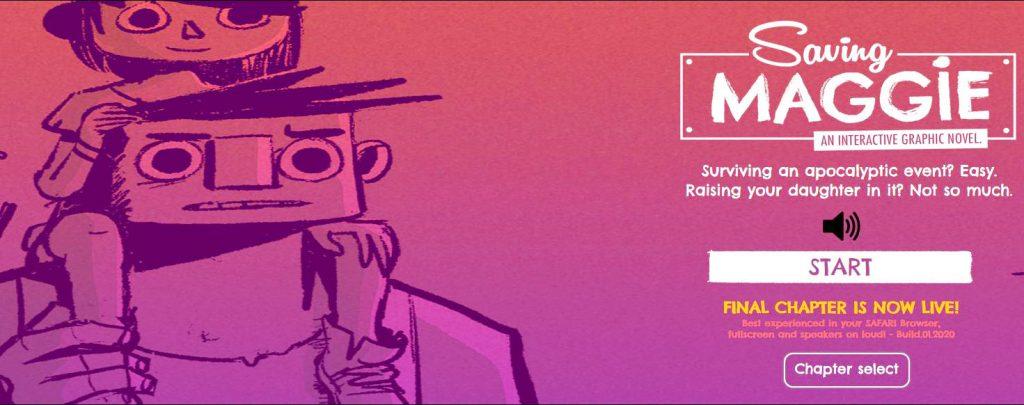 Saving Maggie, Maikel Verkoelen, interactieve strip