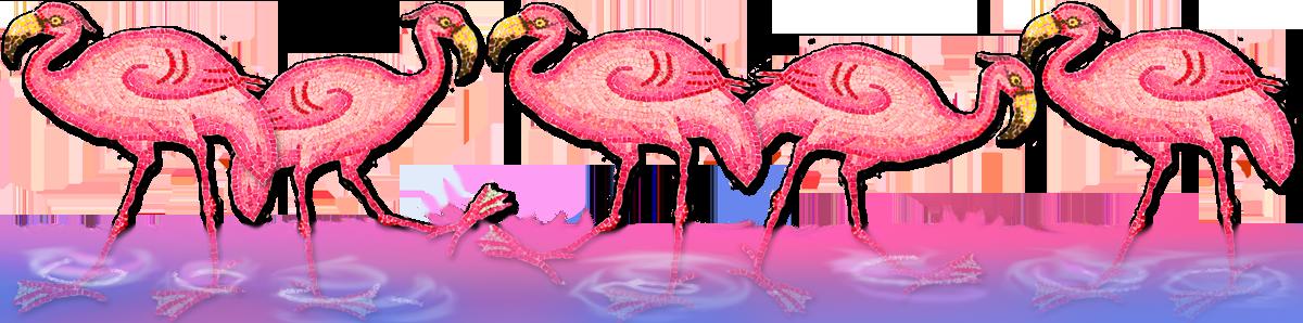 flamingo's, mozaïek 6e eeuw A.D., Dido, young adult novelle, Carthago, Tunesië, Elissa