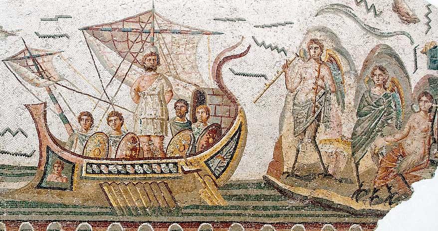 mozaïek, odysseus, carthagozaal, bardo museum, Tunis, young adult novelle