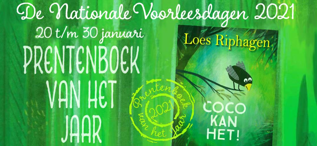 nationale voorleesdagen 2021, Loes Riphagen, Coco kan het!, prentenboek van het jaar 2021