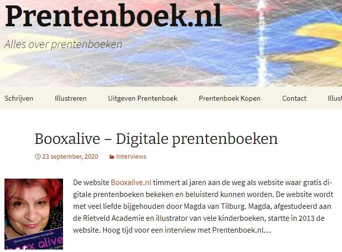 prentenboek.nl, alles over prentenboeken, illustrator, Magda van Tilburg, booxalive