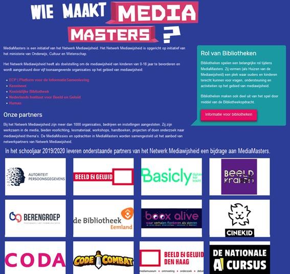 Mediamasters, mediawijsheid, mediawijzer, partner booxalive
