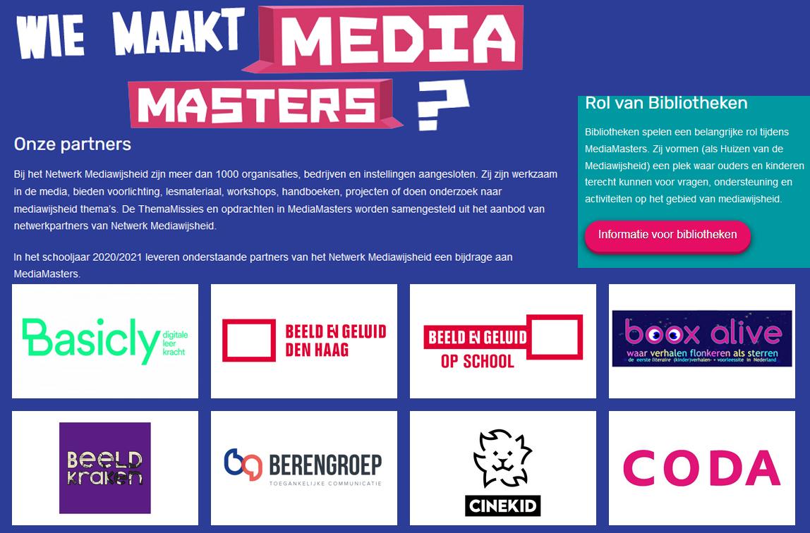 Mediamasters, Mediawijsheid, MediaMissies, partner Booxalive